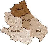mappa ABRUZZO cartina