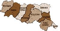 mappa EMILIA ROMAGNA cartina