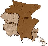 mappa FRIULI VENEZIA GIULIA cartina