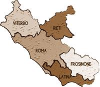 mappa LAZIO cartina
