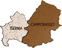 mappa MOLISE cartina