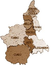 mappa PIEMONTE cartina