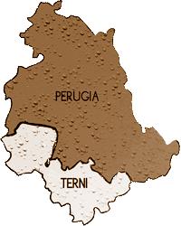 mappa UMBRIA cartina