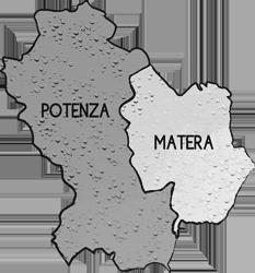 mappa BASILICATA cartina