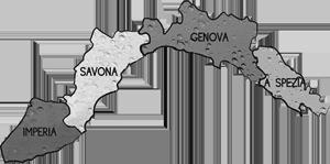 cartina LIGURIA