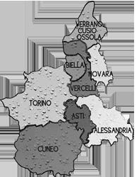 cartina PIEMONTE