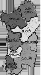 cartina SARDEGNA