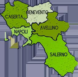 mappa CAMPANIA cartina
