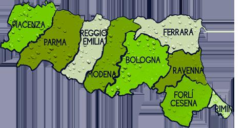 cartina EMILIA ROMAGNA
