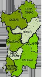 mappa SARDEGNA cartina