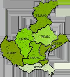 mappa VENETO cartina