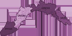 mappa LIGURIA cartina