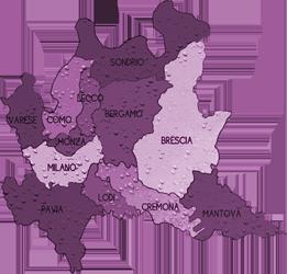 mappa LOMBARDIA cartina