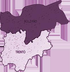mappa TRENTINO ALTO ADIGE cartina