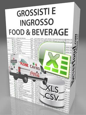Grossisti ed Ingrosso Food & Beverage Bevande Bancadati Tabella excell