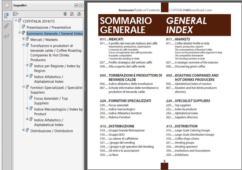 indici Annuario Coffitalia 14-15