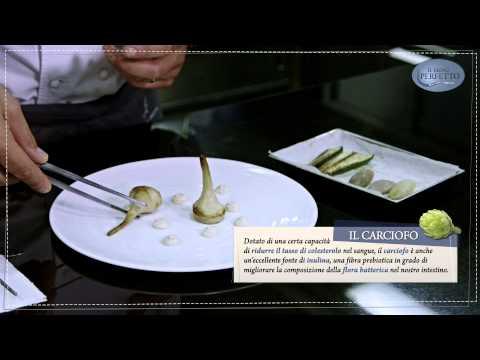 Il menù perfetto // Carciofo, zucchina e scalogno intero e crema al pepe nero