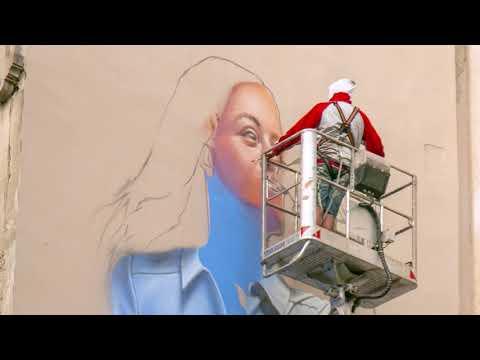 Levissima: arriva il murales sostenibile che contribuisce a ridurre l'inquinamento