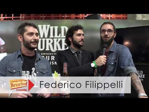 Luca Casale e Federico Filippetti allo stand di Wild Turkey al The Whisky Day 2018