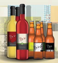 DRINKYOURBRAND .COM : il primo sito che permette di servire vini e birre con etichetta personalizzata