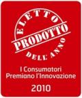 """DERBY BLUE NETTARI MIX E VALFRUTTA PURA FRUTTA FRULLATA NOMINATO """"PRODOTTI DELL'ANNO 2010"""" NELLE RISPETTIVE CATEGORIE"""