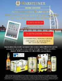 Concorso Warsteiner Birra Conad Palio Ipad Viaggio Dubai