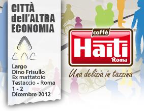 Caffè Haiti Roma fornitore ufficiale della Città dell'Altra Economia