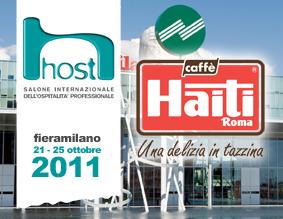 LE MISCELE DI CAFFÈ HAITI ROMA DI SCENA AD HOST 2011, IL SALONE INTERNAZIONALE DELL'OSPITALITÀ PROFESSIONALE