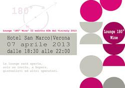 """Iron3 e Comunicare il Vino, organizzano  """"Lounge """"180° Wine"""", il salotto B2B del Vinitaly 2013"""