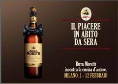 Il piacere in abito da sera: BIRRA MORETTI incontra la cucina d'autore nei migliori ristoranti di Milano
