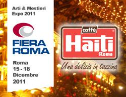 CAFFÈ HAITI ROMA E LE SUE IDEE REGALO AD ARTI & MESTIERI EXPO 2011