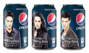 """Parte il concorso Pepsi collegato al film  """"The Twilight Saga: Breaking Dawn – Parte 2"""" – Per l'occasione le Limited Edition dedicate ai personaggi del film"""