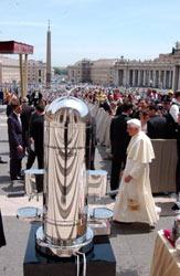 Nuova Simonelli ricorda l'incontro con Papa Joseph Ratzinger