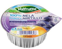 VALFRUTTA lancia la nuova polpa 100% frutta gusto mela-mirtillo