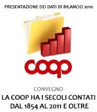 BILANCIO COOP 2010: FATTURATO A 12,9 MILIARDI DI EURO