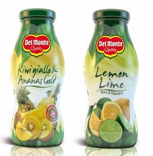 La linea succhi Del Monte Bar presenta due novità salutistiche: Lemon/Lime e  Kiwi giallo/Ananas gold