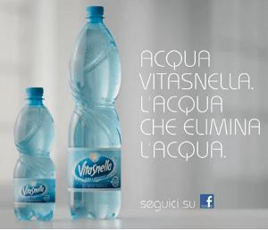 Nuova campagna tv acqua VITASNELLA: si rivolge non più solo alle donne ma anche agli uomini
