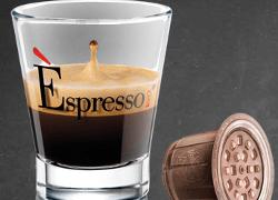 tazzina e capsula caffè vergnano