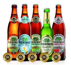 """Wieninger bier bissa il """"premio dei migliori"""" in oro per la qualità dei propri prodotti."""