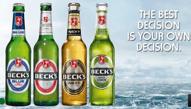 bottiglie birra beck's