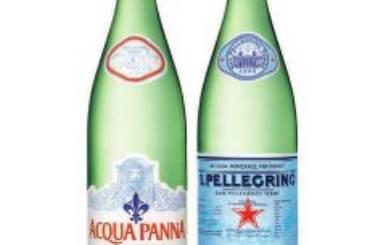 Acqua Panna e San Pellegrino Bottiglie