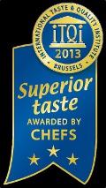 ACQUA DOLOMIA conquista le tre stelle d'oro del Superior Taste Award 2013
