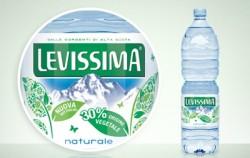 LEVISSIMA lancia la prima bottiglia  bio based con il 30% di origine vegetale