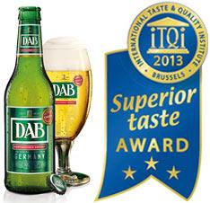 La birra DAB del Gruppo Radeberger ottiene le 3 stelle al Superior Taste Award 2013