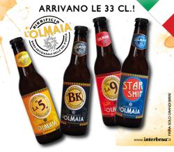 IL BIRRIFICIO TOSCANO L'OLMAIA PRESENTA LE BOTTIGLIE DA 33 CL, DISTRIBUITE DA INTERBRAU