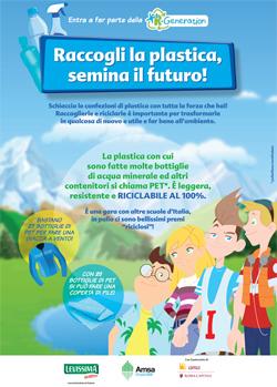 """Al via la seconda edizione  della campagna educativa """"RACCOGLI LA PLASTICA, SEMINA IL FUTURO"""""""