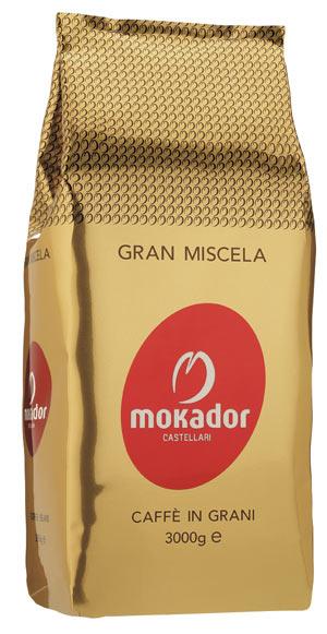 Gran Miscela Mokador  confezione caffè in grani 3kg