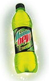 mountain dew energy bottiglia