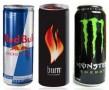 energy-drinks red bull, burn monster