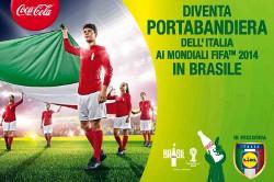"""Concorso LIDL: """"diventa portabandiera dell'Italia ai Mondiali FIFA 2014"""", in collaborazione con Coca-Cola HBC e Sibeg."""